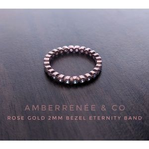 ROSE GOLD 2mm Bezel Eternity Infinity Ring mejuri